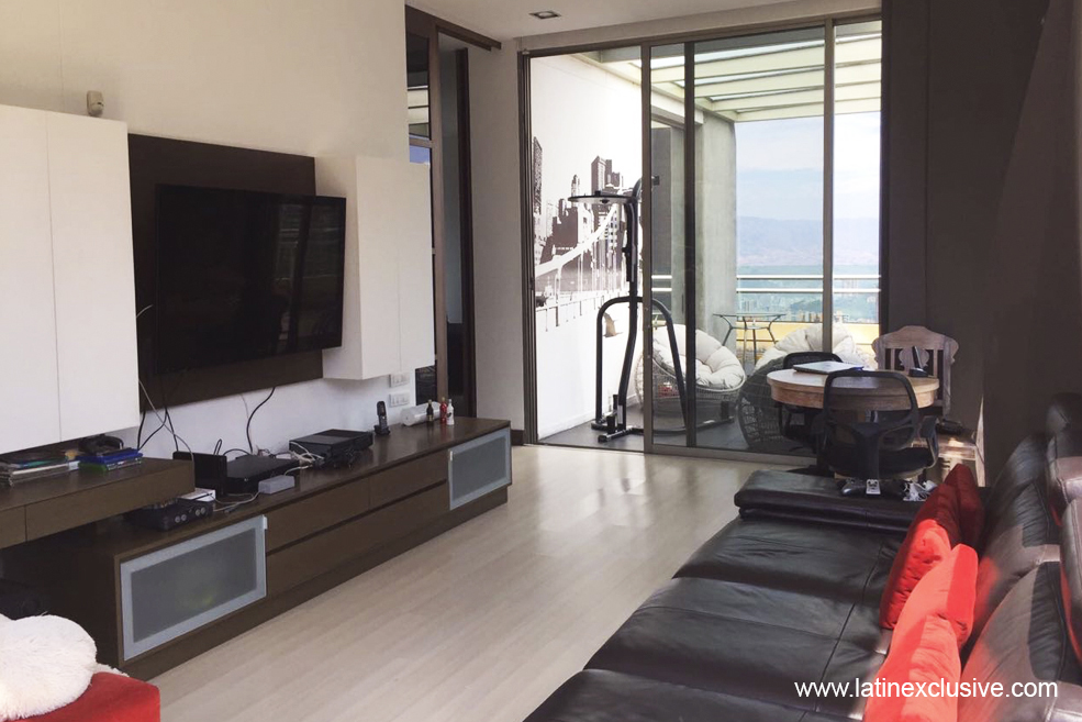 Luxury penthouse  230m2 of terrace that goes around the apartment  with  stunning view over Medellin  It has multiple spaces on the terrace. Luxury Penthouse for sale in Medellin   Colombia Exclusive